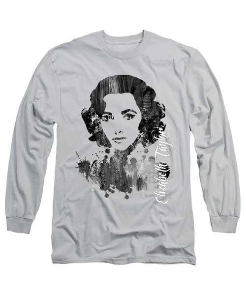 Elizabeth Taylor Collection Long Sleeve T-Shirt by Marvin Blaine