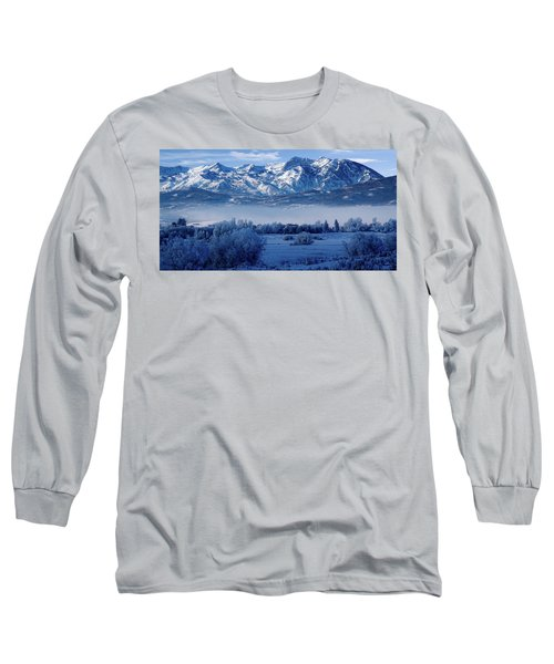 Winter In The Wasatch Mountains Of Northern Utah Long Sleeve T-Shirt