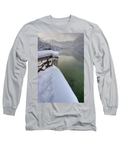 Long Sleeve T-Shirt featuring the photograph Alpine Winter Reflections by Ian Middleton