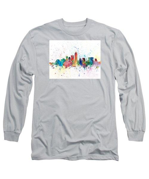Indianapolis Indiana Skyline Long Sleeve T-Shirt