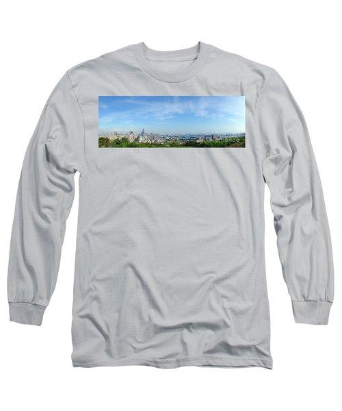 Panoramic View Of Kaohsiung City Long Sleeve T-Shirt by Yali Shi