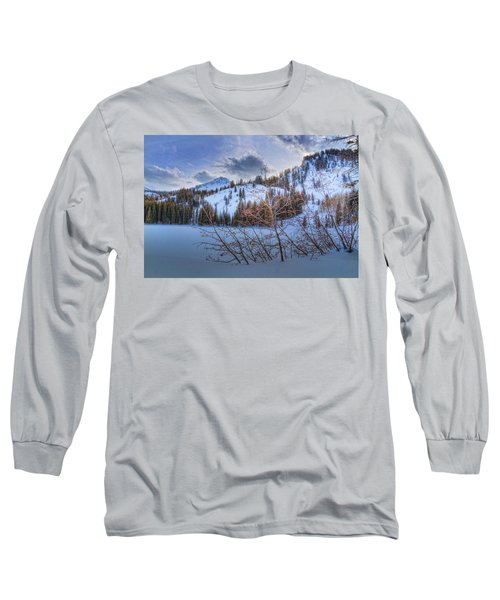 Wasatch Mountains In Winter Long Sleeve T-Shirt by Utah Images