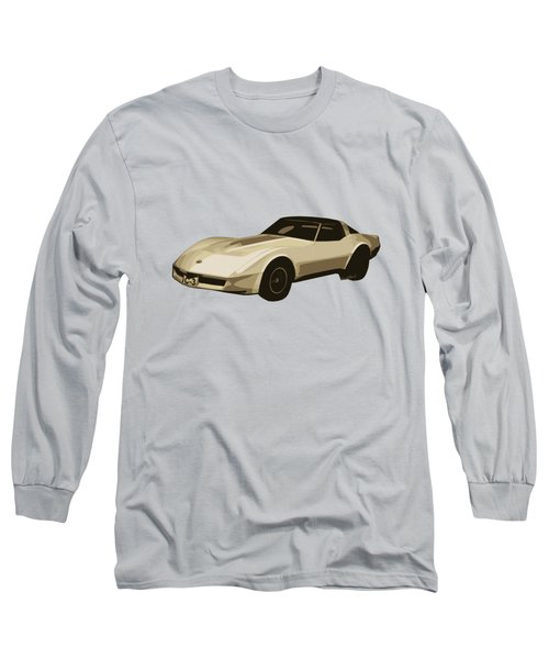 82 Corvette Generation C3 Digi Illustration Long Sleeve T-Shirt