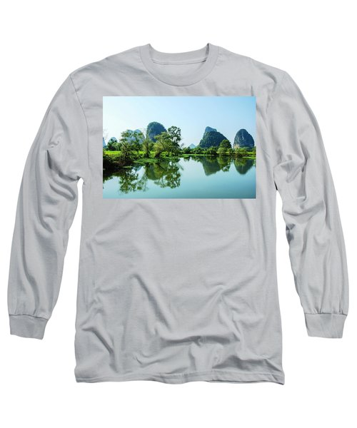 Karst Rural Scenery Long Sleeve T-Shirt