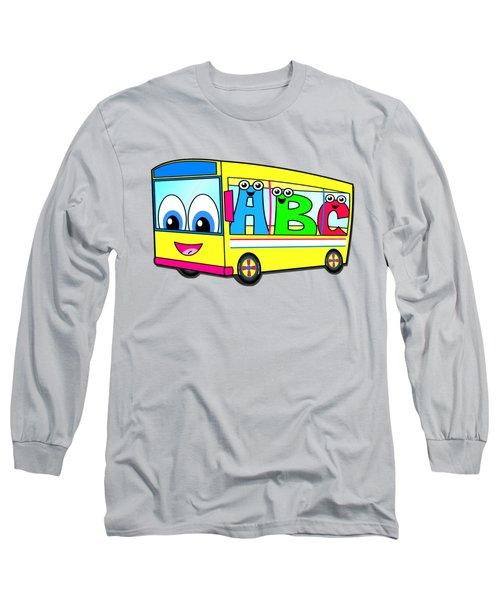 A B C Bus T-shirt Long Sleeve T-Shirt by Herb Strobino