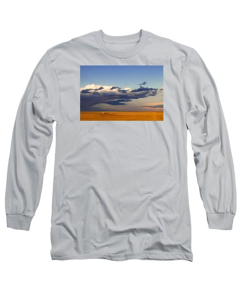 A Barn On The Prairie Long Sleeve T-Shirt by Monte Stevens