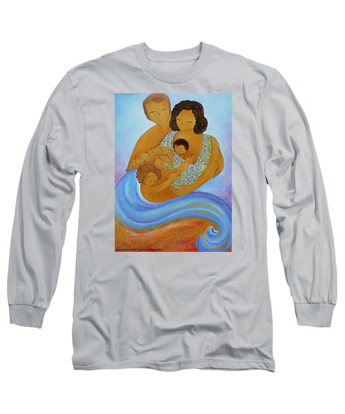 A Beautiful Family Long Sleeve T-Shirt by Gioia Albano
