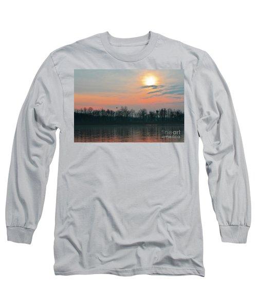 A Beautiful Morning At The Delaware River Long Sleeve T-Shirt