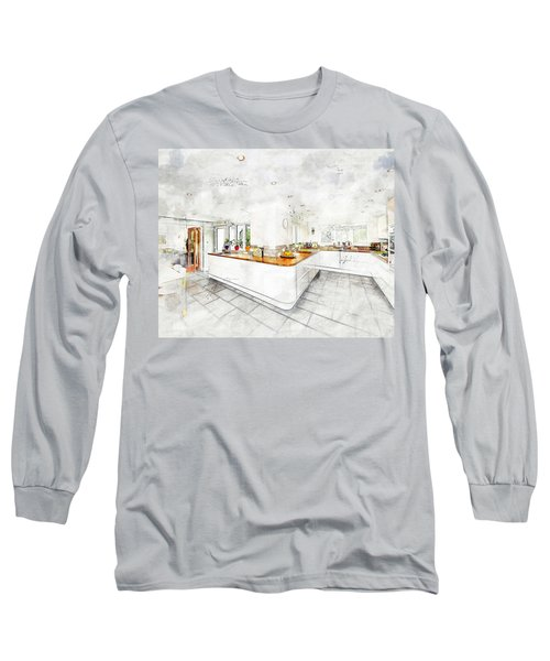 A Bright White Kitchen Long Sleeve T-Shirt