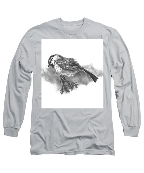 A Chickadee Named Didi Long Sleeve T-Shirt by Dawn Senior-Trask