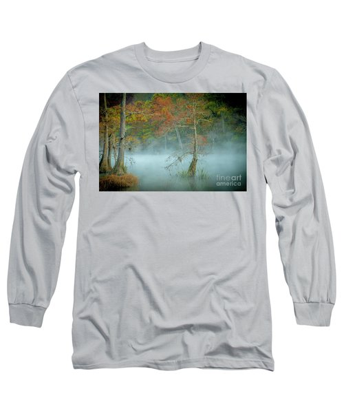 A Dancing Cypress Long Sleeve T-Shirt by Iris Greenwell