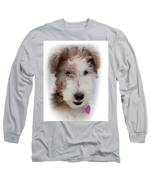 Long Sleeve T-Shirt featuring the photograph A Dog Named Butterfly by Karen Wiles