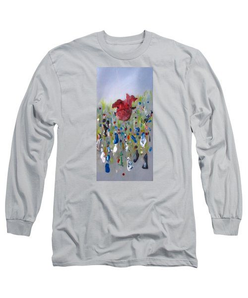 A Face In The Crowd Long Sleeve T-Shirt by Mary Kay Holladay