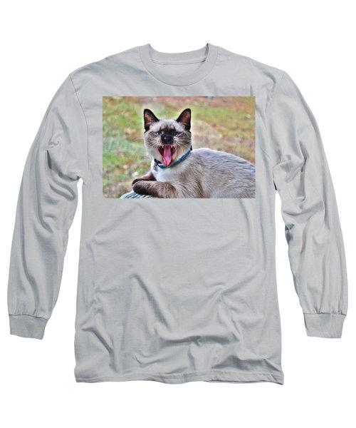 A Full Yawn Long Sleeve T-Shirt