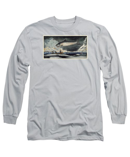 Long Sleeve T-Shirt featuring the painting A Good Pool. Saguenay River by Winslow Homer