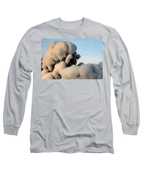 Long Sleeve T-Shirt featuring the photograph A Lick Of Snow On The Bush by Paul SEQUENCE Ferguson             sequence dot net
