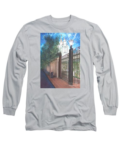 Long Sleeve T-Shirt featuring the painting A Light Unto The World by Jane Autry