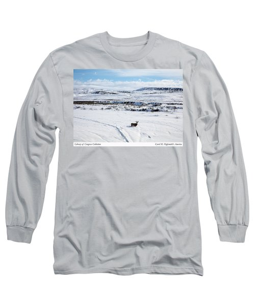 Long Sleeve T-Shirt featuring the photograph A Lone Buck Deer In Carbon County, Wyoming by Carol M Highsmith