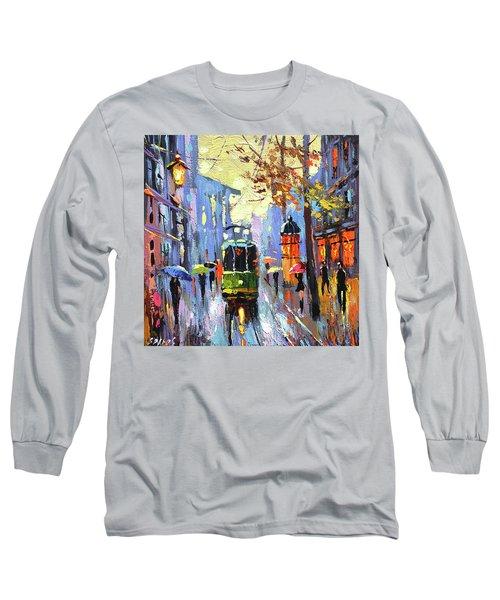 A Lonley Tram  Long Sleeve T-Shirt