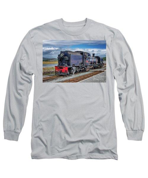 A Man And A Train  Long Sleeve T-Shirt