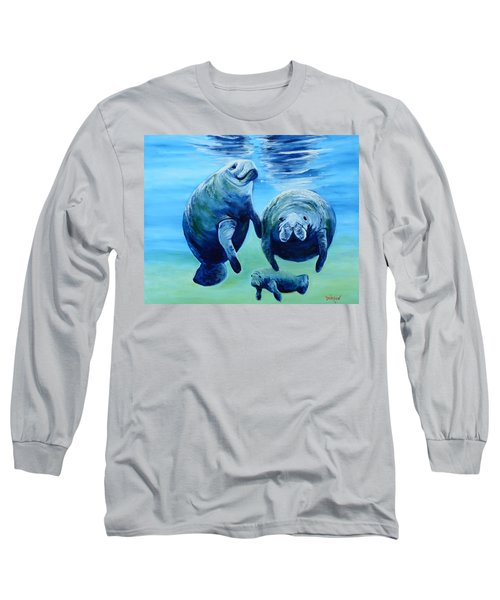 A Manatee Family Long Sleeve T-Shirt