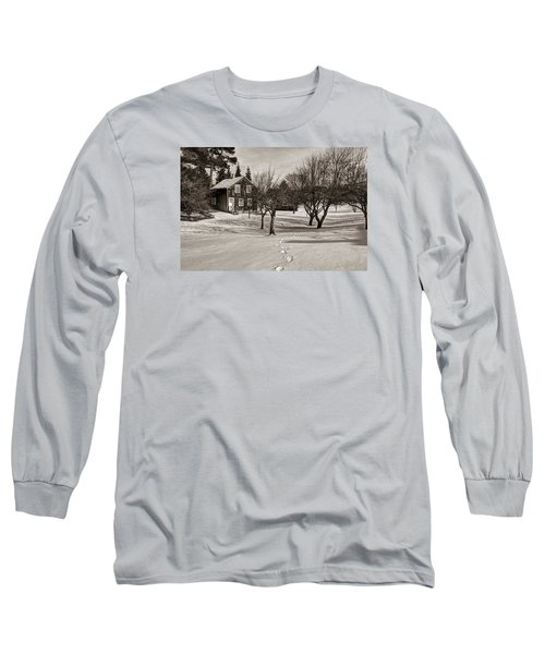 Long Sleeve T-Shirt featuring the photograph A Path To Home by Janice Adomeit