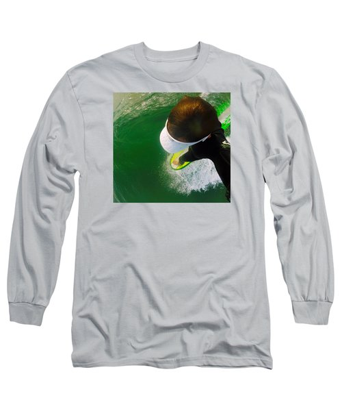 A Pelican's View Long Sleeve T-Shirt by William Love
