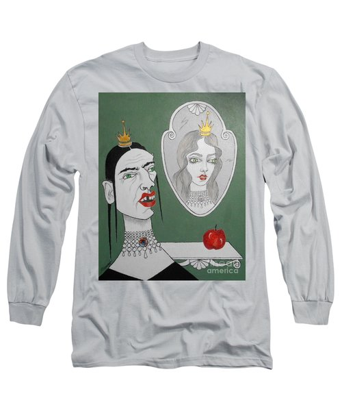 A Queen, Her Mirror And An Apple Long Sleeve T-Shirt
