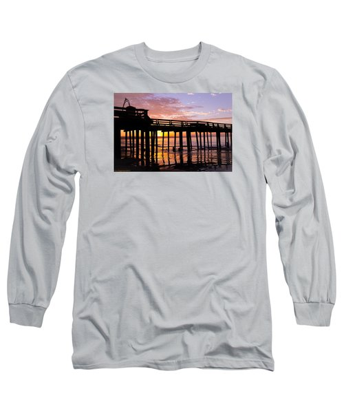 Long Sleeve T-Shirt featuring the photograph A Quiet And Beautiful Start by Lora Lee Chapman