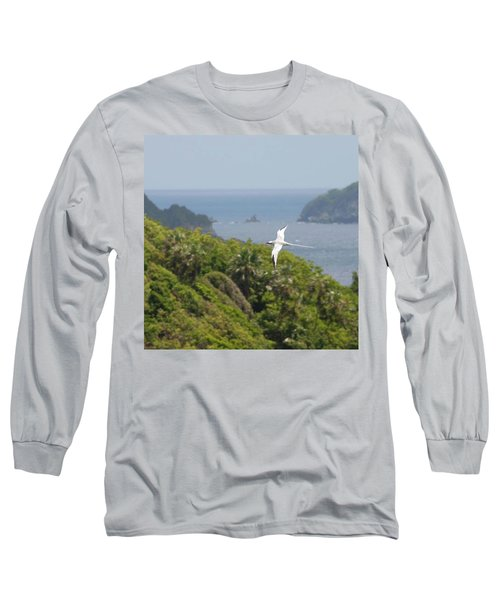 A Red-billed Tropicbird (phaethon Long Sleeve T-Shirt