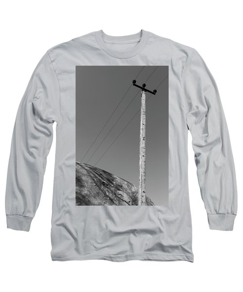 Long Sleeve T-Shirt featuring the photograph A Rock And A Pole, Hampi, 2017 by Hitendra SINKAR