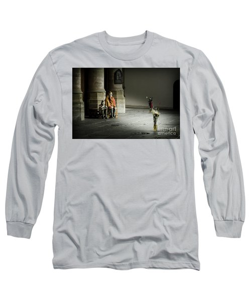 Long Sleeve T-Shirt featuring the photograph A Scene In Oude Kerk Amsterdam by RicardMN Photography