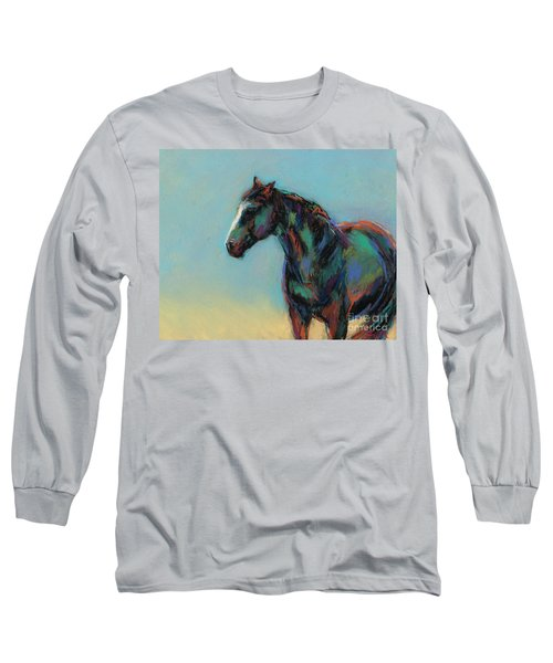 Long Sleeve T-Shirt featuring the pastel A Soft Breeze by Frances Marino
