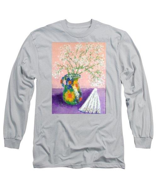A Spanish Jar And A Fan Long Sleeve T-Shirt by Tamara Savchenko