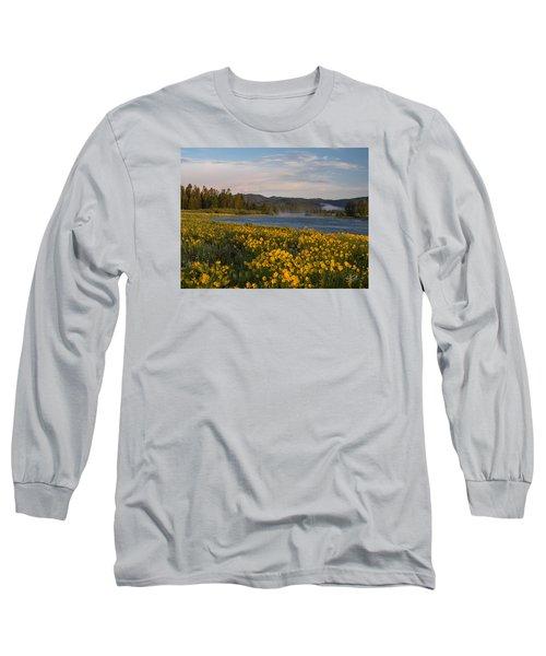 A Spring Morning Long Sleeve T-Shirt by Leland D Howard