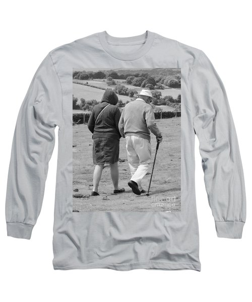 Long Sleeve T-Shirt featuring the photograph A Sunday Stroll In The Country by Linsey Williams