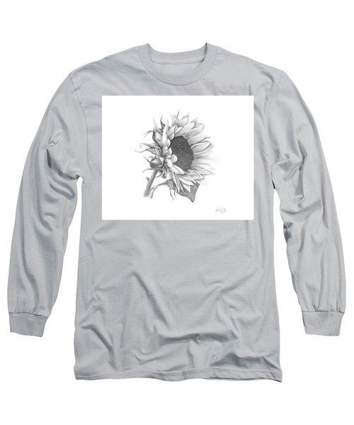 A Sunflowers Beauty Long Sleeve T-Shirt by Patricia Hiltz