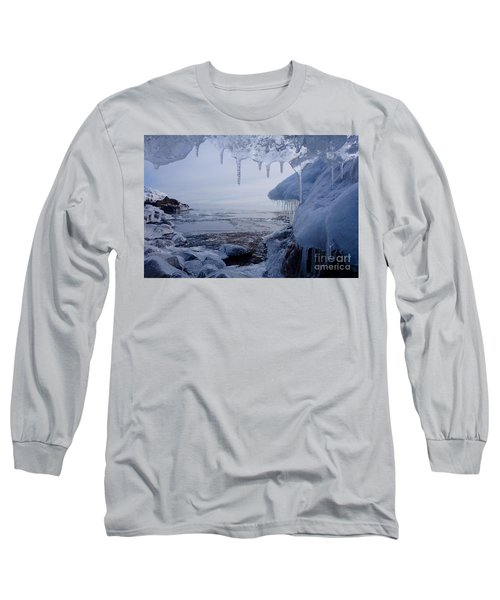 A Superior Ice Cave Long Sleeve T-Shirt by Sandra Updyke