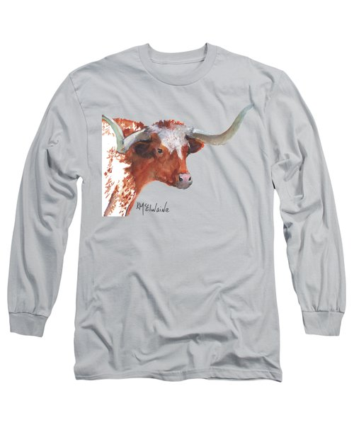 A Texas Longhorn Portrait Long Sleeve T-Shirt
