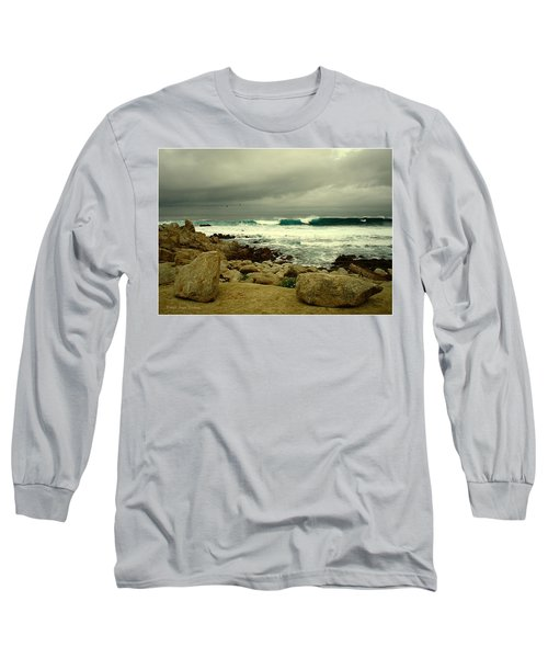 Long Sleeve T-Shirt featuring the photograph A Winter Day At The Beach by Joyce Dickens