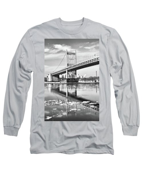 A Winter Portrait Of The Triboro Bridge Long Sleeve T-Shirt
