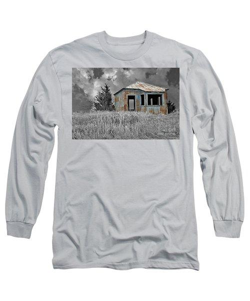Abandon Railroad Shack Long Sleeve T-Shirt