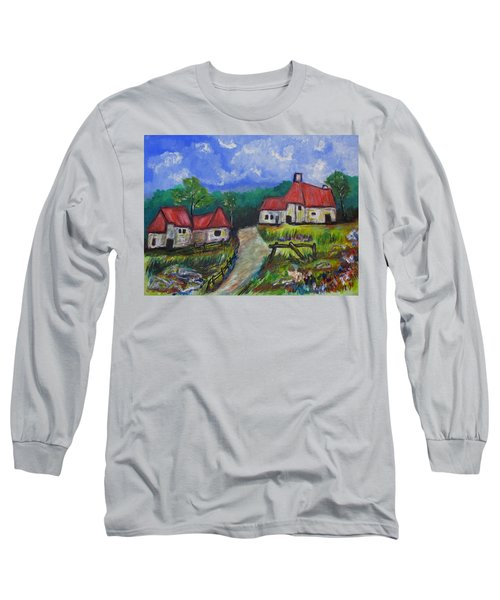 Abandoned Farm Long Sleeve T-Shirt by Clyde J Kell
