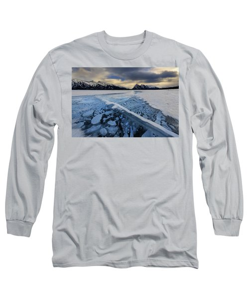 Abraham Lake Ice Bubbles Long Sleeve T-Shirt