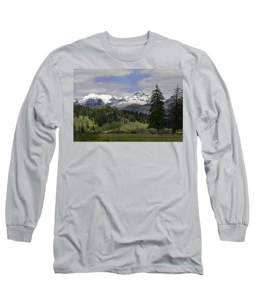Absaroka Mts Wyoming Long Sleeve T-Shirt