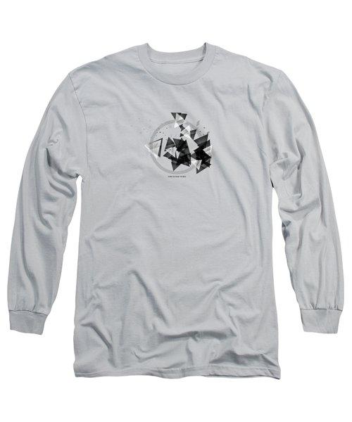 Abstract Art Geometric Shapes No 2 Long Sleeve T-Shirt