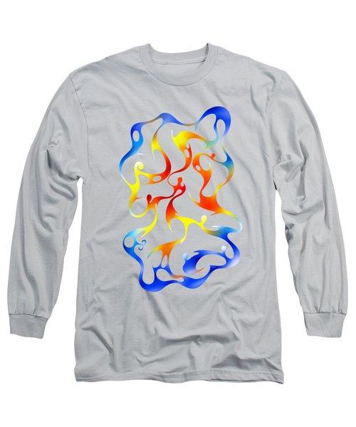 Geoceonom V3 - Abstract Artwork Long Sleeve T-Shirt