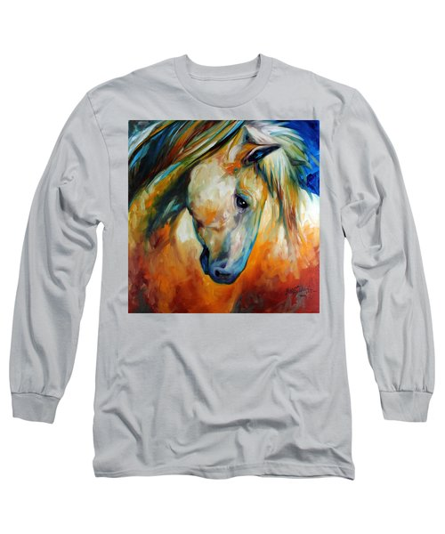 Abstract Equine Eccense Long Sleeve T-Shirt by Marcia Baldwin