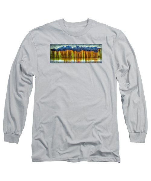 Junkyard Abstract Long Sleeve T-Shirt by Walt Foegelle