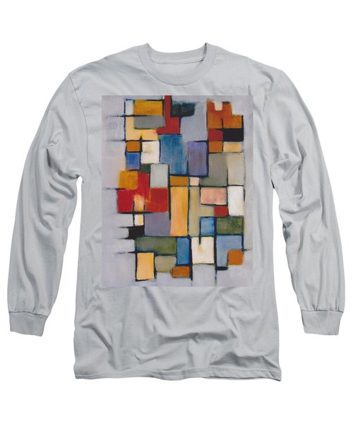 Long Sleeve T-Shirt featuring the painting Abstract Line Series  by Patricia Cleasby